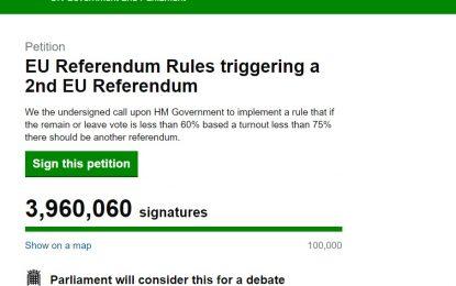 Petizione online contro la Brexit… con le botnet?