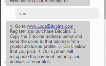 Ecco il ransomware con l'assistenza in live-chat