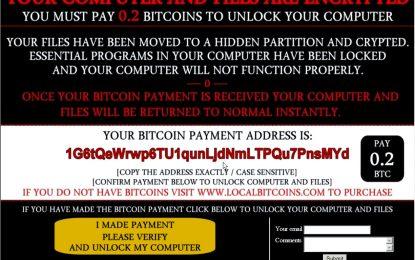 Falso ransomware: chiede il riscatto ma ha già cancellato i file