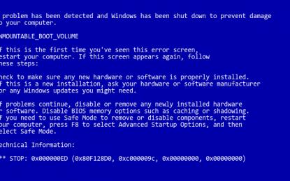 Scivolone di Sophos: crash di Windows e schermata nera