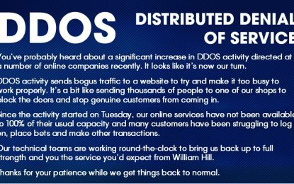 DDoS contro il sito di scommesse William Hill. Ancora Mirai?