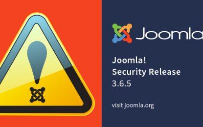 Bug in Joomla permette un attacco in remoto. Aggiornare subito!