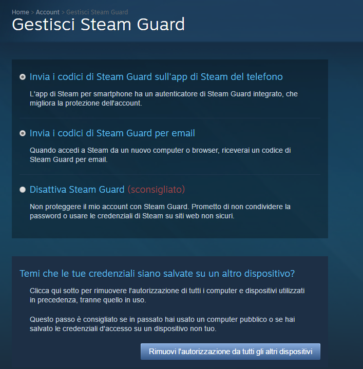 Steam profili