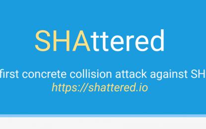"""Annuncio Google: """"Abbiamo violato SHA-1"""""""