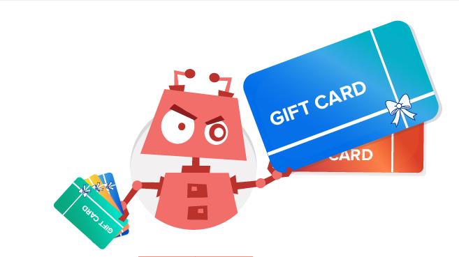 Un bot prende di mira le carte regalo dei siti e commerce for Siti di oggetti in regalo