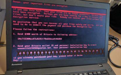 Attacco globale del ransomware Petya. Migliaia di PC colpiti