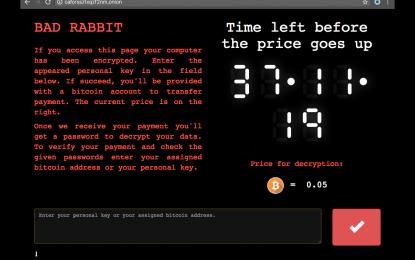 Allarme Bad Rabbit: ondata di attacchi ransomware in Russia.