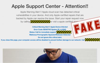 Falsi antivirus e truffe sull'assistenza ora prendono di mira i Mac
