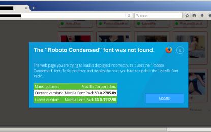 L'attacco Roboto Condensed ora viene usato per distribuire adware