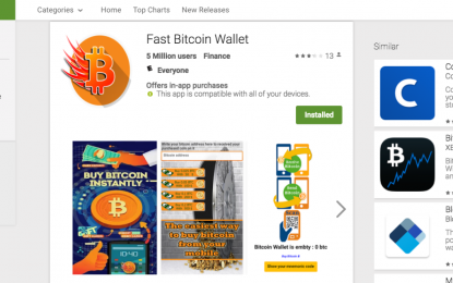 Tre falsi wallet per Bitcoin su Google Play