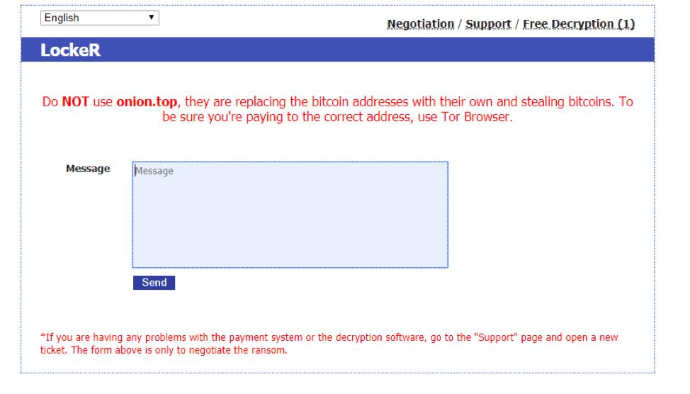 Tor Proxy ransomware