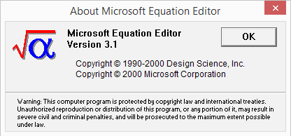 Office Equation Editor