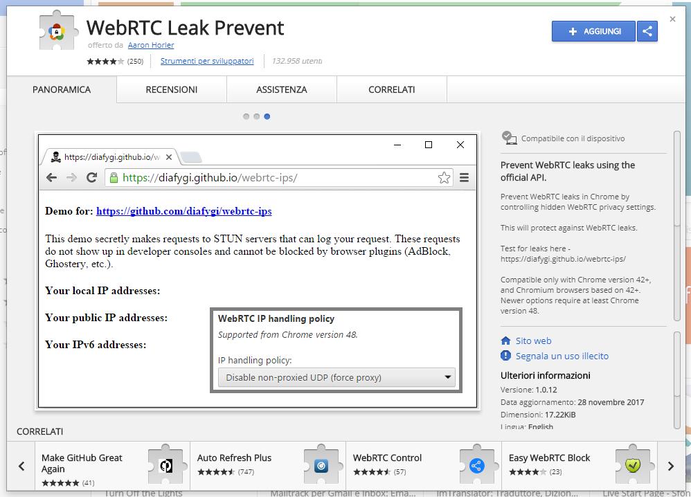 VPN WebRTC