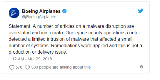 Boeing WannaCry
