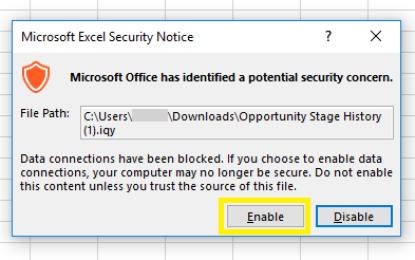 Che diavolo è questo file in formato .IQY?