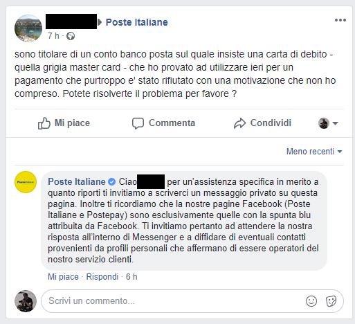 Poste Italiane truffa