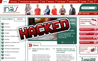 Attacco hacker al patronato INAS-CISL. Online i dati di 37.500 utenti