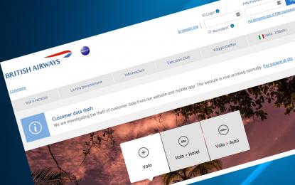 L'attacco a British Airways? È stato il Gruppo MageCart