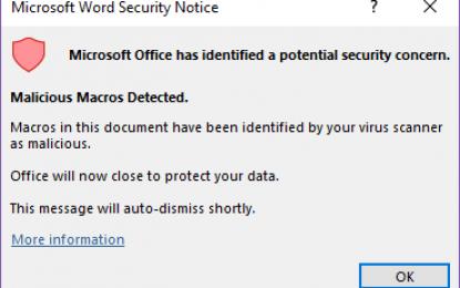 Nuova funzione di Office 365 per bloccare gli script malevoli