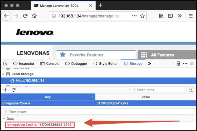 bug NAS Lenovo
