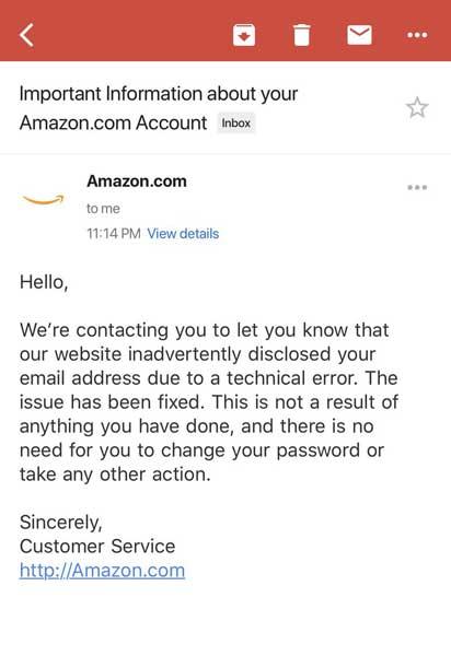 Amazon leak