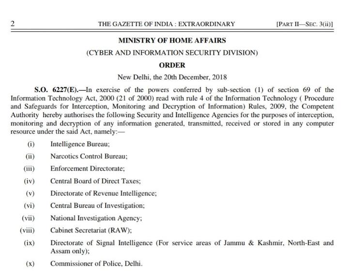 India crittografia