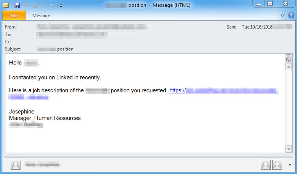 LinkedIn malware