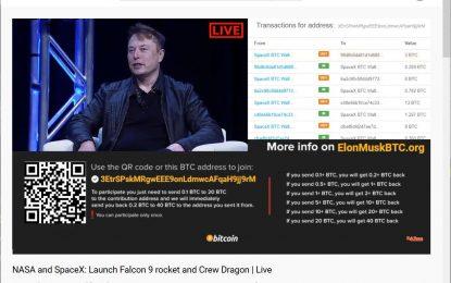 Truffa su YouTube sfrutta il progetto SpaceX per raccogliere bitcoin