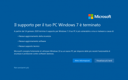 Allarme dell'FBI: aziende con Windows 7 a rischio attacchi hacker
