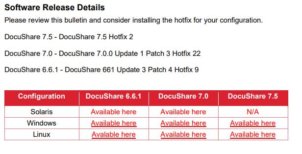 Xerox DocuShare