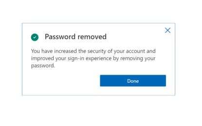 Microsoft spinge per l'addio alla password